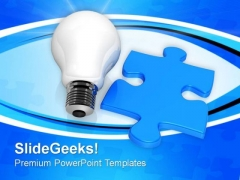 Puzzle Lamp Business PowerPoint Templates And PowerPoint Themes 0812