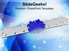 Puzzle Path Business Success PowerPoint Templates Ppt Backgrounds For Slides 0313