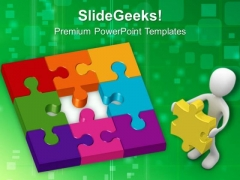 Puzzle Solution Success PowerPoint Templates And PowerPoint Themes 0612
