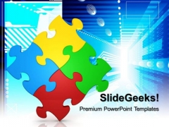 Puzzle Strategy Business PowerPoint Templates And PowerPoint Themes 0612