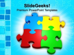 Puzzle Team Business PowerPoint Templates And PowerPoint Themes 0612