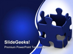 Puzzle Team Leadership PowerPoint Themes And PowerPoint Slides 0811