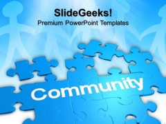 Puzzle With The Word Community Business PowerPoint Templates And PowerPoint Themes 0912