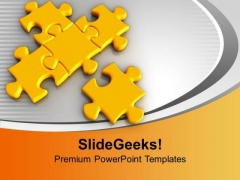 Puzzles Interconnected Problem Solution PowerPoint Templates Ppt Backgrounds For Slides 0213