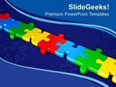 Puzzles To Represent Dependency Of Any Process PowerPoint Templates Ppt Backgrounds For Slides 0413
