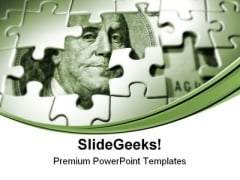Puzzles With Dollar Money PowerPoint Themes And PowerPoint Slides 0711