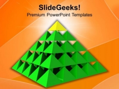 Pyramid To Show Unidirectional Growth PowerPoint Templates Ppt Backgrounds For Slides 0413