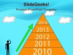 Pyramid Year Growth Business PowerPoint Background And Template 1210