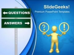 Question Answer Singnpost Metaphor PowerPoint Templates And PowerPoint Themes 0412