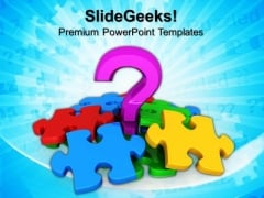 Question Mark And Puzzle Success PowerPoint Templates And PowerPoint Themes 0712