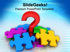 Question Mark And Puzzle Symbol PowerPoint Templates And PowerPoint Themes 0812