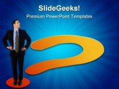 Question Mark Business PowerPoint Templates And PowerPoint Backgrounds 0611