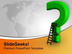 Question Mark With Ladder Business PowerPoint Templates Ppt Backgrounds For Slides 1112