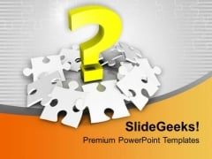 Question Mark With Silver Puzzles PowerPoint Templates Ppt Backgrounds For Slides 0213