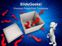 Question Marks And Box Business PowerPoint Themes And PowerPoint Slides 0211