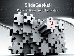 Question Puzzle Wall Business PowerPoint Templates And PowerPoint Backgrounds 0711