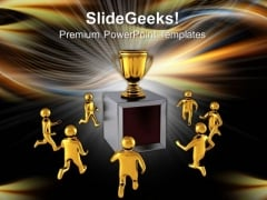Race For Trophy Success PowerPoint Templates And PowerPoint Themes 0812