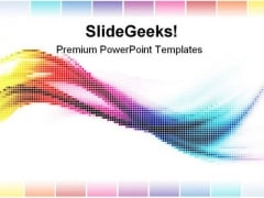 Rainbow Mosaic Abstract PowerPoint Templates And PowerPoint Backgrounds 0411
