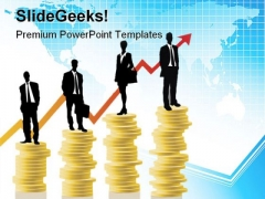 Raising Arrow Money Success PowerPoint Templates And PowerPoint Backgrounds 0711