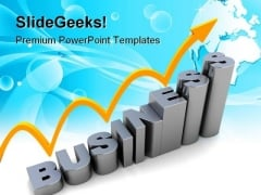 Raising Business Graph Success PowerPoint Templates And PowerPoint Backgrounds 1011