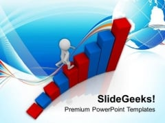 Reach On Top With Hard Work PowerPoint Templates Ppt Backgrounds For Slides 0513