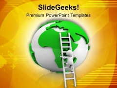 Reach The Top Of The World Success PowerPoint Templates Ppt Backgrounds For Slides 0713