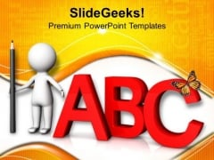 Read And Learn Abc PowerPoint Templates Ppt Backgrounds For Slides 0813