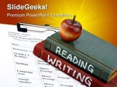 Reading Writing Education PowerPoint Backgrounds And Templates 1210