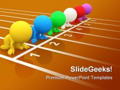 Ready To Race Success PowerPoint Themes And PowerPoint Slides 0811