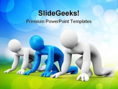 Ready To Start Success PowerPoint Themes And PowerPoint Slides 0811