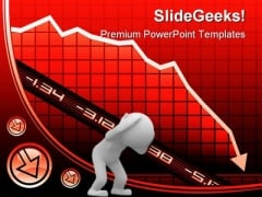 Recession On Graph Business PowerPoint Templates And PowerPoint Backgrounds 0711