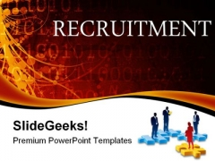 Recruitment Business Abstract PowerPoint Themes And PowerPoint Slides 0411