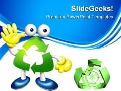 Recycle Boy Environment PowerPoint Themes And PowerPoint Slides 0811