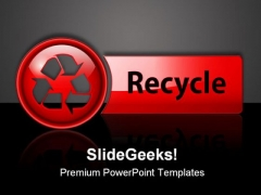 Recycle Icon Button Symbol PowerPoint Themes And PowerPoint Slides 0711