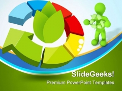 Recycle Icon Geographical PowerPoint Themes And PowerPoint Slides 0411