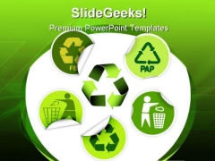 Recycle Labels Environment PowerPoint Templates And PowerPoint Backgrounds 0811