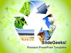 Recycle Nature PowerPoint Templates And PowerPoint Backgrounds 0811