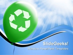 Recycle Symbol Environment PowerPoint Templates And PowerPoint Backgrounds 0811