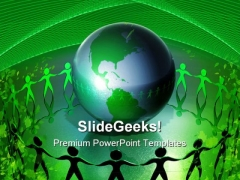 Recycle The World Global PowerPoint Templates And PowerPoint Backgrounds 0511