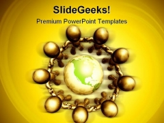 Recycle The World Globe PowerPoint Themes And PowerPoint Slides 0411
