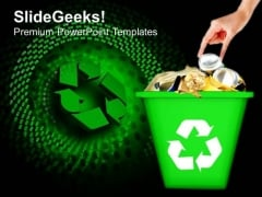 Recycled Garbage Geographical Environment PowerPoint Templates And PowerPoint Themes 0912