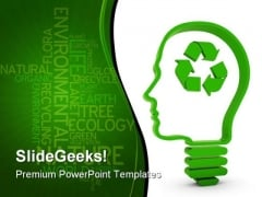 Recycling Brain Business PowerPoint Template 0810