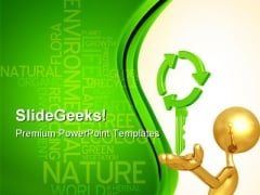 Recycling Key Nature PowerPoint Themes And PowerPoint Slides 0911