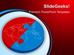 Red And Blue Puzzle Global PowerPoint Templates And PowerPoint Themes 0412
