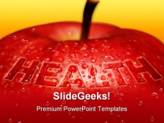 Red Apple Health Concept Medical PowerPoint Backgrounds And Templates 1210