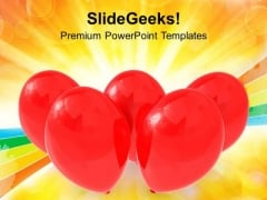 Red Balloons Party Events PowerPoint Templates Ppt Backgrounds For Slides 1212