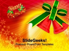 christmas bell powerpoint templates slides and graphics