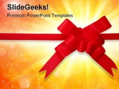 Red Bow Shapes PowerPoint Templates And PowerPoint Backgrounds 0811