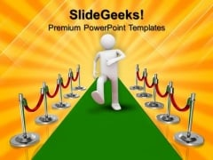 Red Carpet Award People Competition PowerPoint Templates And PowerPoint Themes 1012