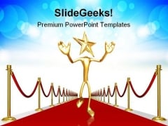Red Carpet Entrance Events PowerPoint Templates And PowerPoint Backgrounds 1011